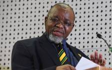 FILE: Mineral Resources Minister Gwede Mantashe. Picture: @GCISMedia/Twitter