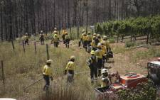 Firefighters did a demonstration as part of the launch of wildfire season. Picture: Cindy Archillies/EWN
