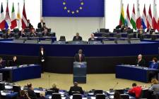 President Cyril Ramaphosa addressing the European Parliament on 14 November 2018. Picture: GCIS