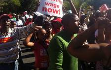 Protesters demonstrate over among others, labour brokers
