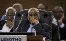 FILE: Lesotho PM Thomas Motsoahae Thabane at the 37th Southern African Development Community (SADC) Summit at The OR Tambo Building in Pretoria on 20 August, 2017. Picture: AFP