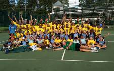 Members of South Africa's Davis Cup Tennis team held a special clinic for Gauteng children on 28 January 2014 ahead of their clash against Monaco. Picture: Tholakele Mnganga/EWN