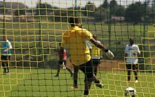 Soccer players during a football match. Picture: Taurai Maduna/Eyewitness News