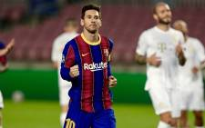 Barcelona's Argentine forward Lionel Messi walks on the pitch during the UEFA Champions League football match between FC Barcelona and Ferencvarosi TC at the Camp Nou stadium in Barcelona on 20 October 2020. Picture: @FCBarcelona/Twitter