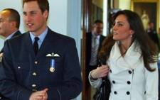 Prince William with Kate Middleton after his graduation ceremony at RAF Cranwell air base in Lincolnshire, on 11 April 2008. Picture: AFP