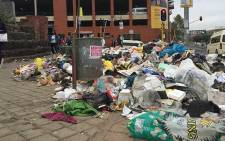 FILE: Rubbish strewn on the streets of Johannesburg. Picture: Vumani Mkhize/EWN.