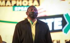 ANC President Cyril Ramaphosa at the launch of the ANC elections manifesto at Church Square in Pretoria on 27 September 2021. Picture: Abigail Javier/Eyewitness News