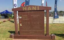 The memorial stone of slain SACP leader Chris Hani, on 10 April 2016,  23 years after he was assassinated outside his Boksburg home. Picture: Vumani Mkhize/EWN
