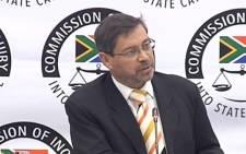 A screengrab of Roy Jankielsohn, a member of the Free State legislature, giving testimony at the state capture inquiry on 22 July 2019. Picture: SABCDigitalNews/Youtube