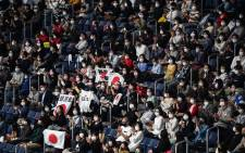 People attend the Friendship and Solidarity Competition gymnastics event in Tokyo on 8 November 2020, the first major international sporting event in the Japanese capital since the Tokyo 2020 Olympic Games was postponed due to the coronavirus pandemic. Picture: AFP