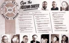 The original Freedom Charter document. Picture: SA History website