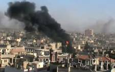 Syrian rebels said they shot down an army helicopter on Tuesday as they battled government forces backed by air power and artillery in the fiercest fighting to hit Damascus since the revolt against President Bashar al-Assad erupted last year.