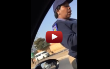 Screengrab of a youtube video by a motorist attempting to expose the alleged 'arrogance' of a JMPD officer.