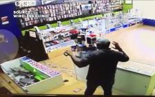 A screengrab of the attempted robbery.