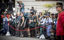 FILE: Members of the media gathered in their numbers, patiently waiting for President Zuma to arrive for the State of the Nation Address 2015. Picture: Thomas Holder/EWN.