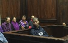 Aljar Swartz in court moments before being found guilty of the October 2013 murder of Lee Adams. 14 March 2016. Picture: Siyabonga Sesant/EWN.