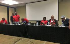 FILE: Satawu, Numsa, Tawusa and Towu leaders met to discuss the nationwide bus strike. Picture: Katleho Sekhotho/EWN.