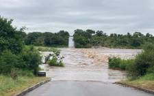 A flooded bridge in the Kruger National Park on 25 January 2021. Picture: @SANParks/Twitter