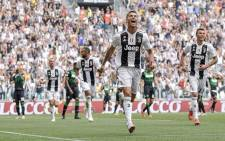 Cristiano Ronaldo celebrates his first goal for Juventus on 16 September 2018. Picture: @juventusfcen/Twitter