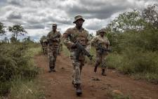 FILE: SANDF soldiers patrol the borders of South African and Mozambique for smugglers, illegal immigrants, and poachers. Picture: Thomas Holder/EWN