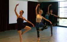 Three dancers from Jo'burg ballet rehearsing ahead of a visit from Harvard Business School students on 12 January 2015. Picture: Reinart Toerien/EWN