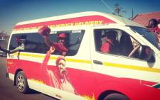 A motorcade has been doing the rounds in the area garnering more support for the EFF's Tshela Thupa rally at the Peter Mokaba Stadium tomorrow. Picture: @EFFSouthAfrica.
