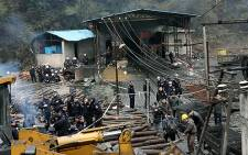 FILE PICTURE: A Chinese coal mine. Picture: AFP