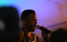 Llyod Cele performs at KFM's Inside on Fire Women's Day celebrations. Picture: Andiswa Mkosi/EWN.