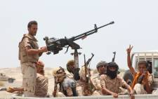 FILE: Yemeni pro-government forces head to Zinjibar. Picture: AFP.