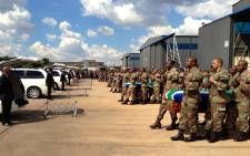 FILE: SANDF soldiers carry the bodies of their colleagues killed in the Central African Republic on 24 March 2013. Picture: Alex Eliseev/EWN