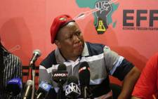 FILE: EFF leader Julius Malema speaks at a press conference on 2 December 2015. Picture: Christa Eybers/EWN.