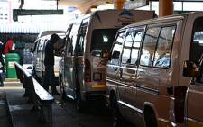 FILE: Taxis queue at Cape Town's Station Deck. Picture: EWN.