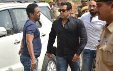Bollywood actor Salman Khan arrives at a court to hear the verdict in the long-running wildlife poaching case against him in Jodhpur on 5 April, 2018. Picture: AFP