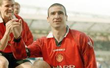 FILE: Eric Cantona (right) during his time with Manchester United. Picture: @ManUtd/Twitter