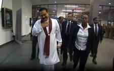 FILE: Sri Lanka's President Mahinda Rajapkasa in South Africa in 2013. Picture: @PresRajapaksa via twitter