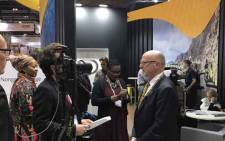 Tourism Minister Derek Hanekom addressed media at World Travel Market in London. Picture: @Tourism_gov_za/Twitter.