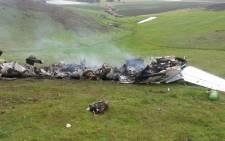 The light aircraft crashed along Contermans Kloof in Durbanville in Cape Town. Picture: Shamiela Fisher/EWN.