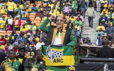 ANC President Jacob Zuma addressed thousands of party supporters during their Gauteng manifesto launch at the FNB stadium in Soweto on 4 June 2016. Picture: Reinart Toerien/EWN