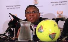 Sports Minister Fikile Mbalula during a Press Conference at the Sandton Sun Hotel, 31/01/2013. Picture: Sebabatso Mosamo/EWN