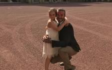 David Beckham with his daughter Harper. Picture: @davidbeckham/Instagram.