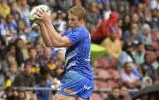 Stormers lock Pieter-Steph du Toit catches the ball in the lineout during the Super Rugby match against the Jaguares at Newlands Stadium on 22 February 2020 in Cape Town. Picture: AFP