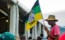 An ANC supporter waves the party's flag in Durban as the organisation prepares to celebrate its 107th-anniversary. Picture: @MYANC/Twitter.