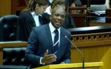 A YouTube screengrab of Democratic Alliance (DA) Parliamentary leader, Mmusi Maimane.