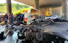 The scene of a horror crash in Durban. Picture: Arrive Alive.