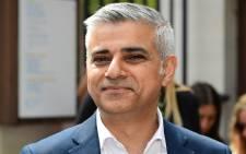 London Mayor Sadiq Khan. Picture: AFP.