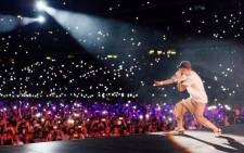 Eminem performs at Cape Town Stadium on 26 February. Picture: Twitter.