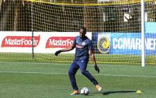 Eight-time Olympic champion Usain Bolt trains for the first time for the A-League football club Central Coast Mariners in Gosford on 21 August, 2018. Picture: AFP