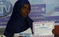 Somali journalist Sagal Salad. Picture: @Daudoo via Twitter.
