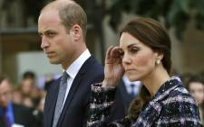 Britain's Prince William and his wife Catherine, Duchess of Cambridge. Picture: AFP
