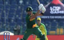 Aiden Markram bats for South Africa against Australia at the T20 World Cup on 23 October 2021. Picture: Official Cricket South Africa.